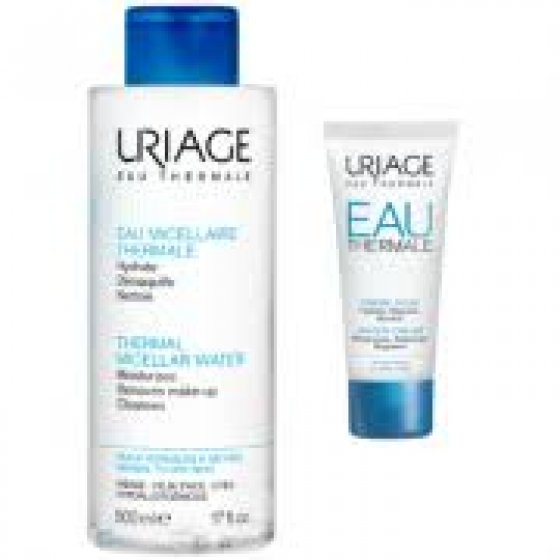 URIAGE AGUA MICELAR PELE NORMAL SENSIVEL 500ML + CREME AGUA LIGEIRO 15ML