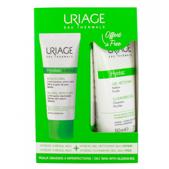 URIAGE HYSEAC 3-REGUL 40ML + OFERTA GEL LIMPEZA