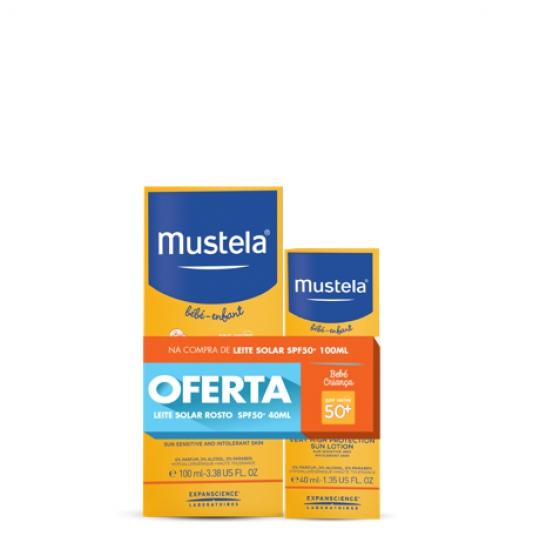 MUSTELA SOLAR LEITE SPF50+ 100ML + OFERTA LEITE ROSTO