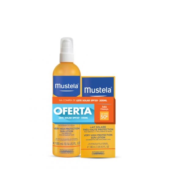 MUSTELA SOLAR LEITE SPF50+ 300ML + OFERTA LEITE 100ML
