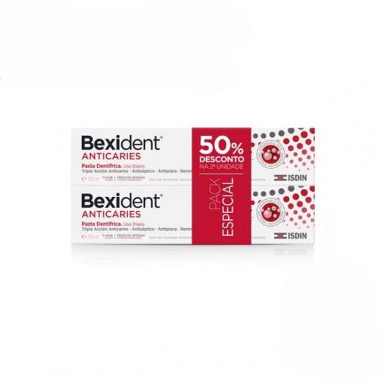 BEXIDENT ANTICARIES PASTA DENT1FRICA 2 X 125ML + DESCONTO 50% 2 UNIDADE