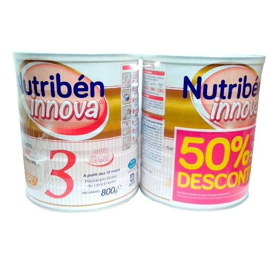 NUTRIBEN INNOVA 3 LEITE CRESCIMENTO 800G X 2 50% 2 UNIDADE