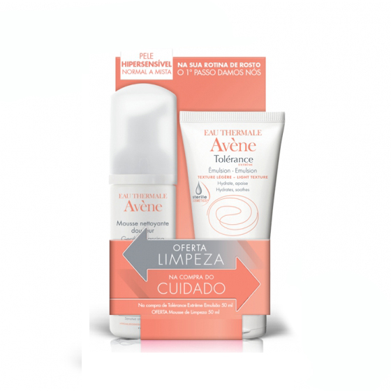 AVENE TOLERANCE EXTREME EMULSAO DEFI 50ML + OFERTA MOUSSE 50ML