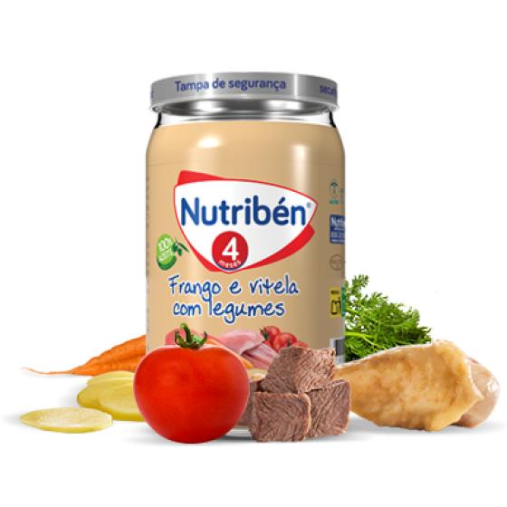 NUTRIBEN BOIAO 4 FRANGO VITELA COM LEGUMES 235G