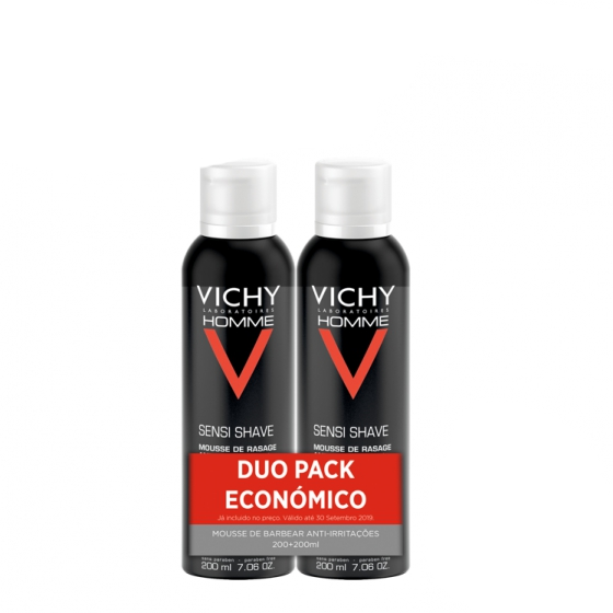 VICHY HOMME MOUSSE BARBEAR 200ML DUO