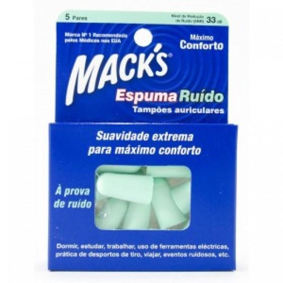 MACK S ESPUMA RUIDO TAMPAO OTO X 5