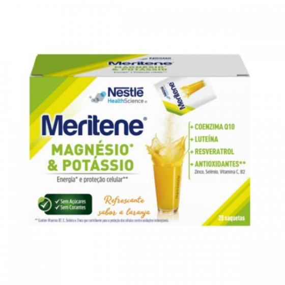 MERITENE MAGNESIO POTASSIO SAQUETAS 4,2G X 20 PO SOLUCAO ORAL