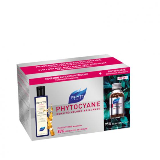PHYTO PHYTOCYANE MONODOSES 12 X 7.5 ML + CHAMPO 250 ML COM OFERTA DE PHYTOPHANERE CAPSULAS 120 UNIDADE(S)