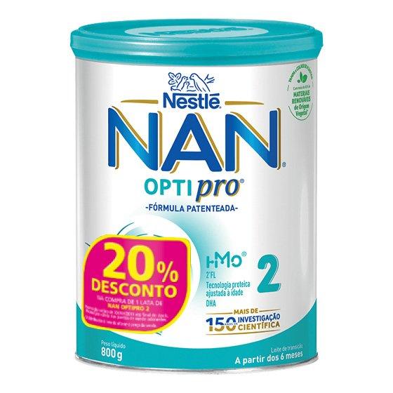 NAN 2  LEITE TRANSICAO 800G + 20% DESCONTO