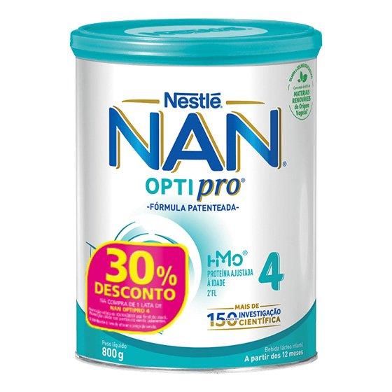 NAN 4 SOLUCAO ORAL LEITE PO 800G + 30% DESCONTO