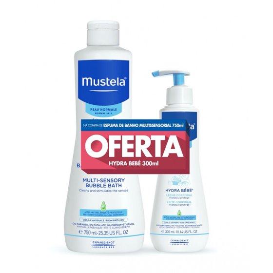 MUSTELA BEBE PELE NORMAL ESPUMA BANHO 750ML + OFERTA HYDRA 300ML