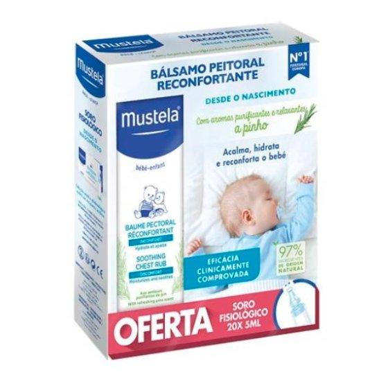 MUSTELA BEBE BALSAMO RECONFORTANTE PEITORAL 40 ML COM OFERTA DE SORO FISIOLOGICO 20 X 5 ML