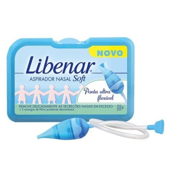 Libenar Baby Aspirador Nasal Soft + Recargas De Filtros Protetores Descartáveis 5 Unidade(S)