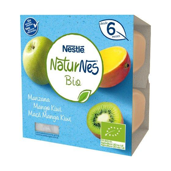NESTLE NATURNES BIO MACA/MANGA/KIWI 4 X 90G