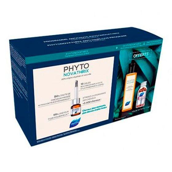 PHYTO PHYTONOVATHRIX COFFRET MONODOSES 12 X 3.5 ML COM OFERTA DE CHAMPO 200 ML + PHYTOPHANERE CAPSULAS 120 UNIDADE(S) 2019