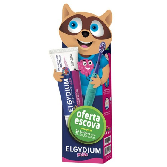 ELGYDIUM KIDS BACK TO SCHOOL GEL DENTIFRICO FRUTOS SILVESTRES 2 ANOS-6 ANOS COM OFERTA DE ESCOVA DE DENTES