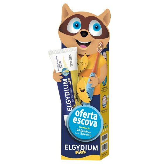 ELGYDIUM KIDS BACK TO SCHOOL GEL DENTIFRICO BANANA 2-6 ANOS 50 ML COM OFERTA DE ESCOVA DE DENTES