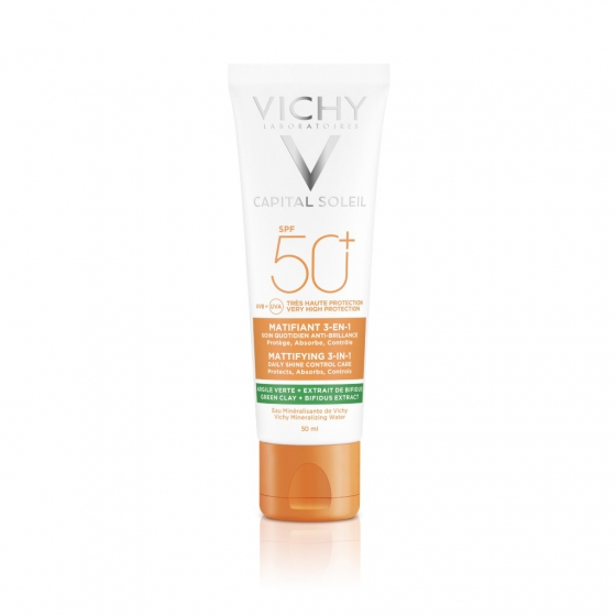 VICHY CAPITAL SOLEIL CREME MATIFICANTE 3 EM 1 SPF50+ 50ML