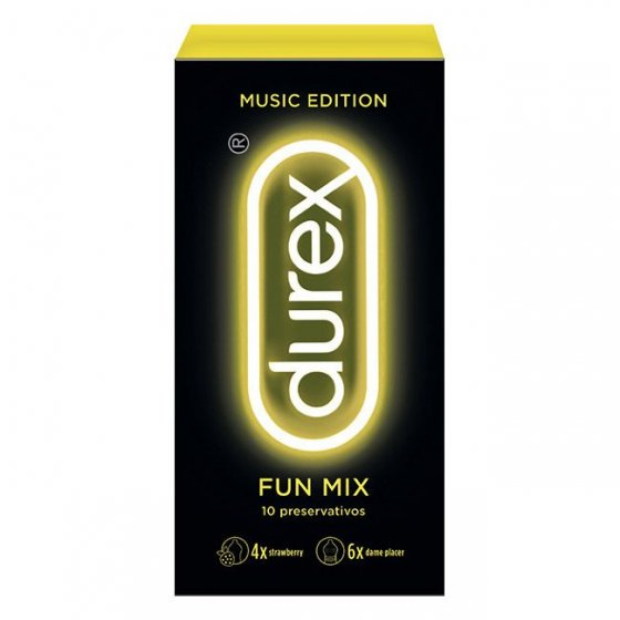 DUREX MUSIC EDITION FUN MIX PRESERVATIVO X 10