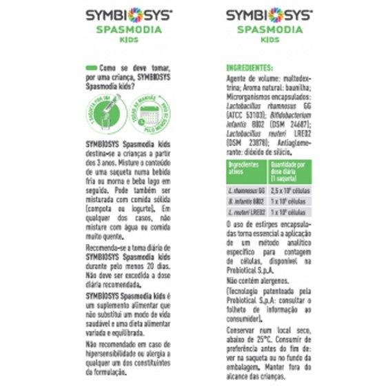 SYMBIOSYS SPASMODIA KIDS X20 SAQUETAS