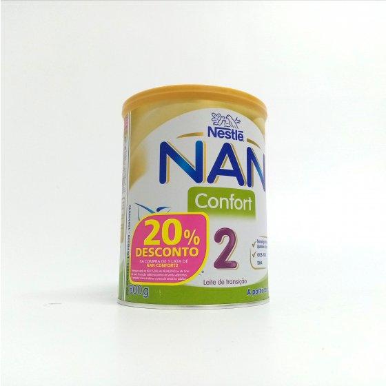 NAN CONFORT 2 LEITE DE TRANSICAO 800G COM DESCONTO DE 20%