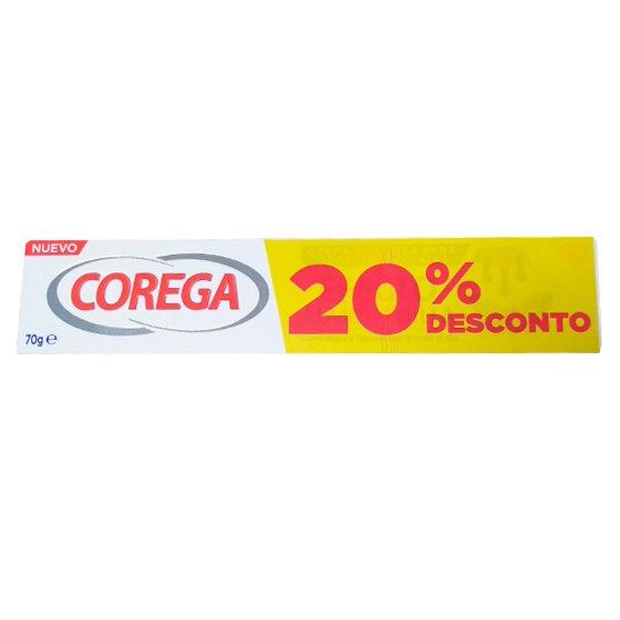 COREGA EFEITO ALMOFADA CREME FIXADOR PARA PROTESE DENTARIA 70G COM 20% DE DESCONTO