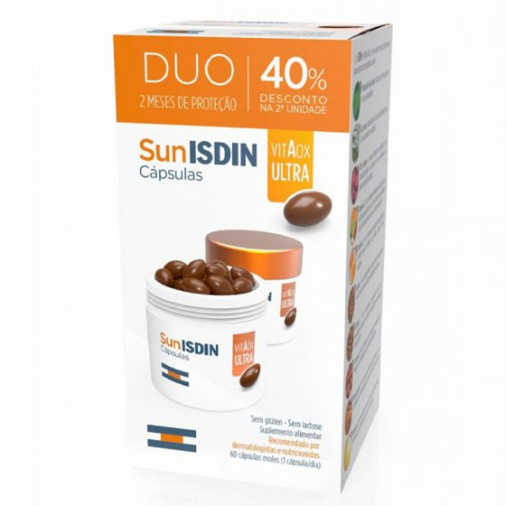 SUNISDIN DUO CAPSULAS MOLES 2 X 30 UNIDADE(S) COM DESCONTO DE 40% NA 2ª EMBALAGEM