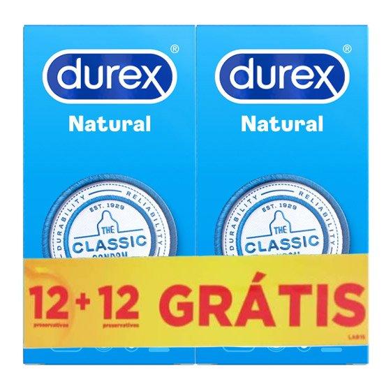 DUREX NATURAL PLUS PRESERVATIVO X 12 + OFERTA 2ª EMBALAGEM