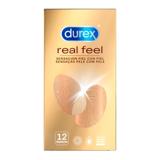 DUREX REAL FEEL PRESERVATIVO X12