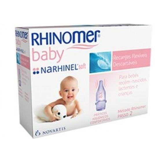 RHINOMER BABY NARHINEL RECARGAS FLEXIVEIS DESCARTAVEL X10