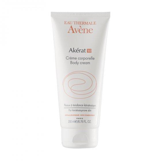 AVÈNE Akérat 10 creme corporal para pele com tendência queratósica. Embalagem de 200 ml