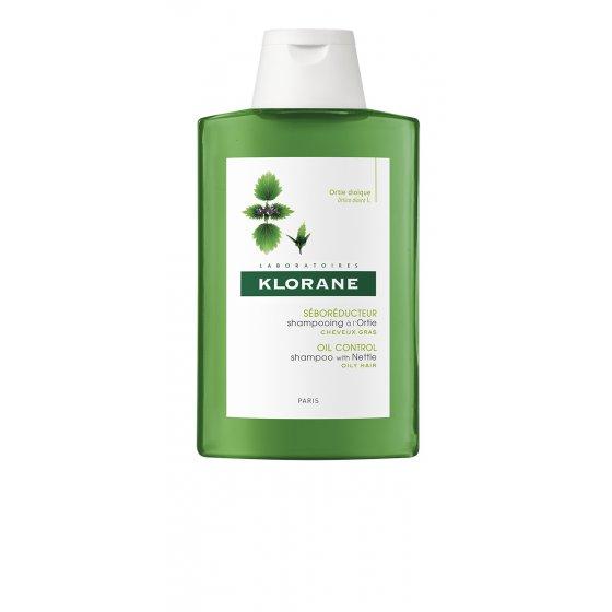 KLORANE Capilar Champô Ortiga Branca para cabelo com tendência oleosa. Embalagem de 200 ml