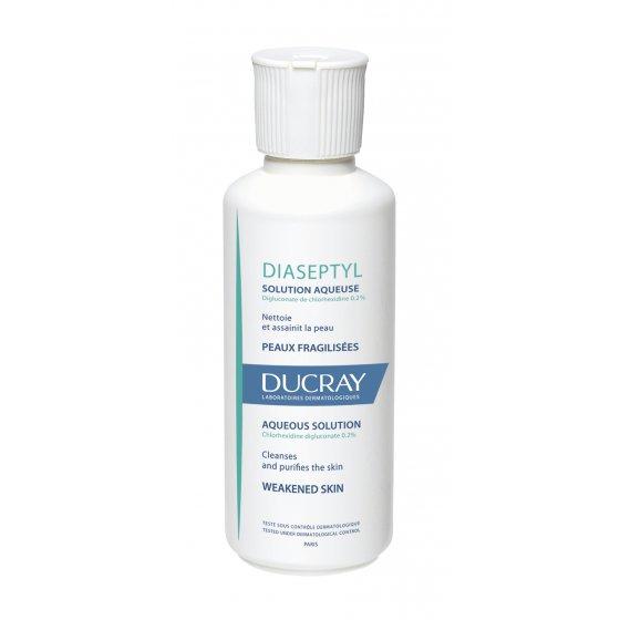 DUCRAY Diaseptyl Solução Aquosa para cuidados purificantes. Embalagem de 125 ml