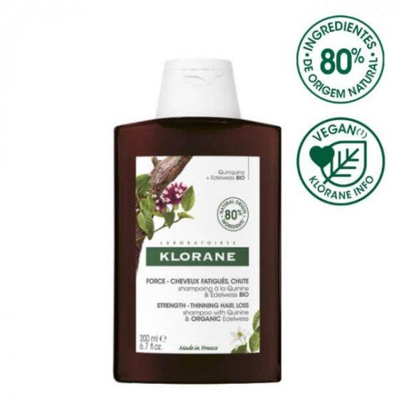 Klorane Quinina Bio Champô Fortificante Anti-Queda 200ml