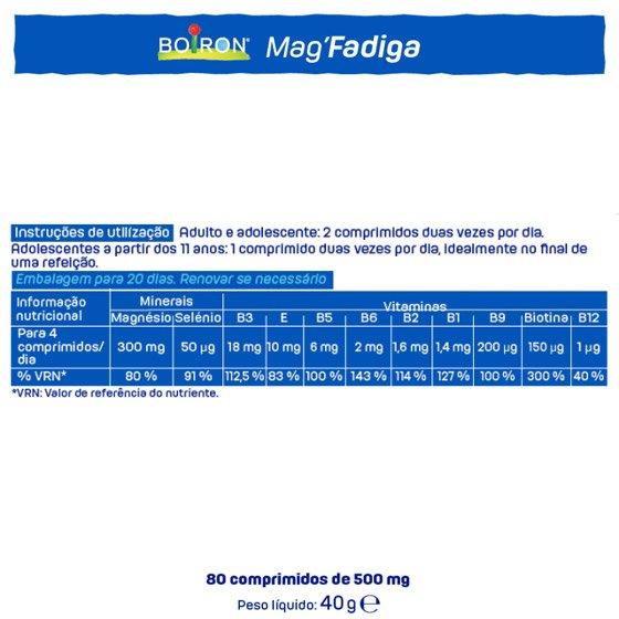 BOIRON MAG FADIGA COMPRIMIDOS X80