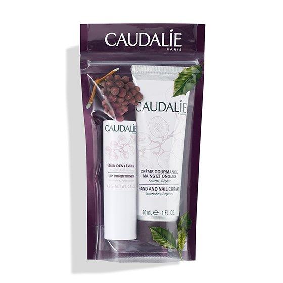 CAUDALIE WINTER DUO CLASSIC COFFRET CREME DE MAOS E UNHAS GOURMANDE 30 ML + STICK LABIAL 4.5 G