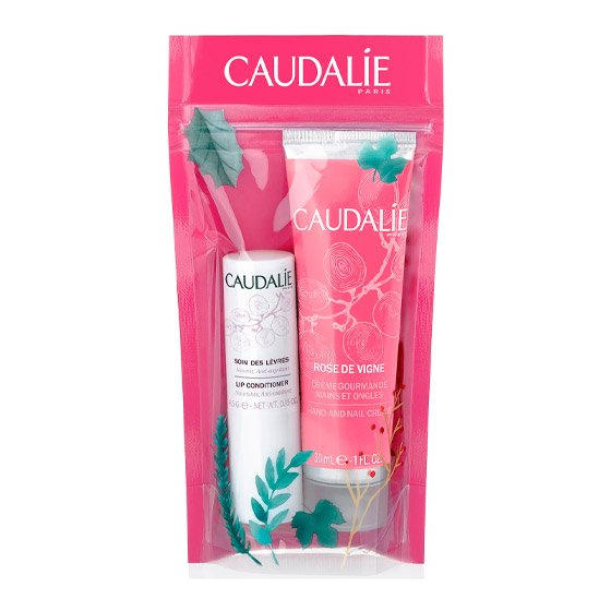 CAUDALIE WINTER DUO ROSE DE VIGNE COFFRET CREME DE MAOS E UNHAS 30 ML + STICK LABIAL 4.5 G
