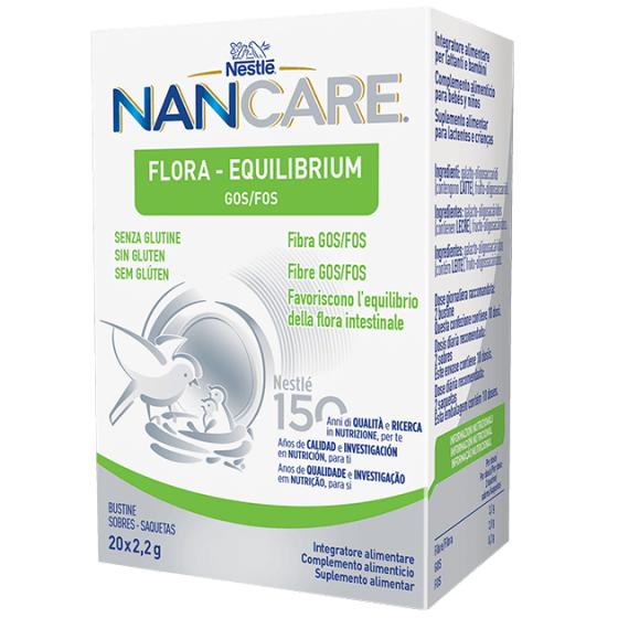 NANCARE FLORA – EQUILIBRIUM SAQUETAS 20x2,2G