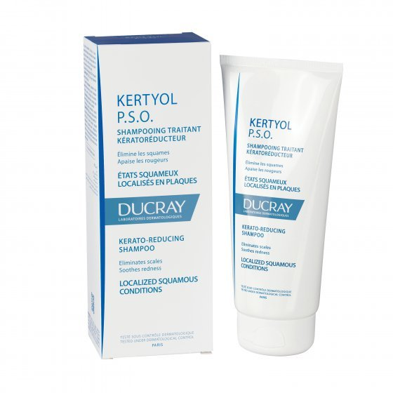 DUCRAY Kertyol P.S.O. Champô para couro cabeludo com estados descamativos severos. Embalagem de 200 ml