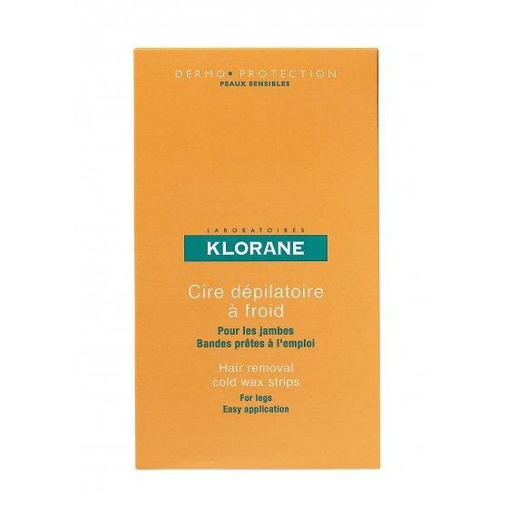 KLORANE Bandas Cera Corpo para pele sensível Embalagem de 6 unidades
