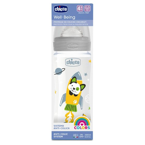 CHICCO BIBERAO WELL BEING SILICONE NEUTRO 4M+ 330ML