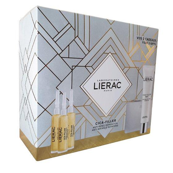 LIERAC CICA-FILLER SERUM ANTIRRUGAS REPARADOR 3 X 10 ML COM OFERTA DE MAT GEL-CREME ANTIRRUGAS REPARADOR 40 ML + RUE DES FLEURS MONACO BOLSA