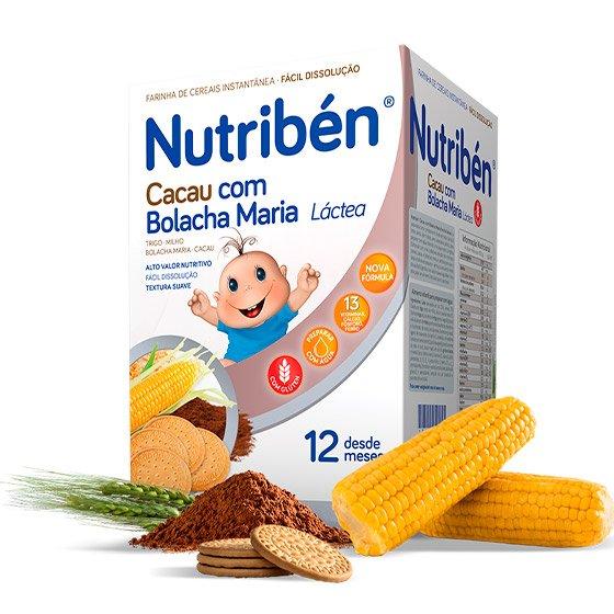 NUTRIBEN FARINHA LACTEA DE CACAU COM BOLACHA MARIA 300G