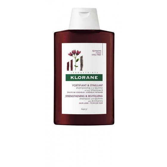 KLORANE Capilar Champô Quinina para cabelo cansado, desvitalizado e com perda de densidade. Embalagem de 200 ml