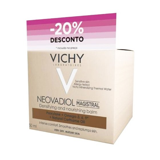 VICHY NEOVADIOL MAGISTRAL CREME PELE SECA 50 ML COM DESCONTO DE 20%