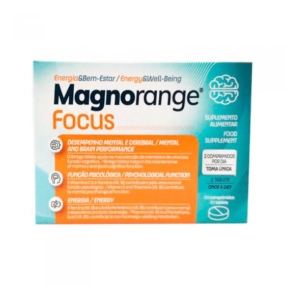 MAGNORANGE FOCUS COMPX60 FLAVONOIDES [PA] GINKGO (GINKGO BILOBA) (EXTRATO) [PA] MAGNESIO (OXIDO) [PA
