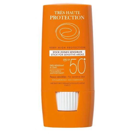 AVÈNE Solares Stick 50+ Large zonas sensível para pele muito clara e hipersensível ao sol. Embalagem de 8gr