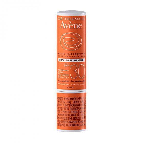 AVÈNE Solares Stick Labial para pele clara e sensível ao sol. Embalagem de 3 gr
