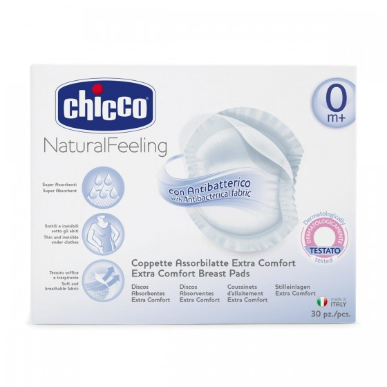 CHICCO DISCOS ABSORVENTES PROTECTORES ANTI-BACTERIANOS x 30