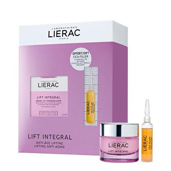 LIERAC LIFT INTEGRAL BOX CREME TENSOR REMODELANTE 50 ML COM OFERTA DE CICA-FILLER SERUM ANTIRRUGAS 10 ML